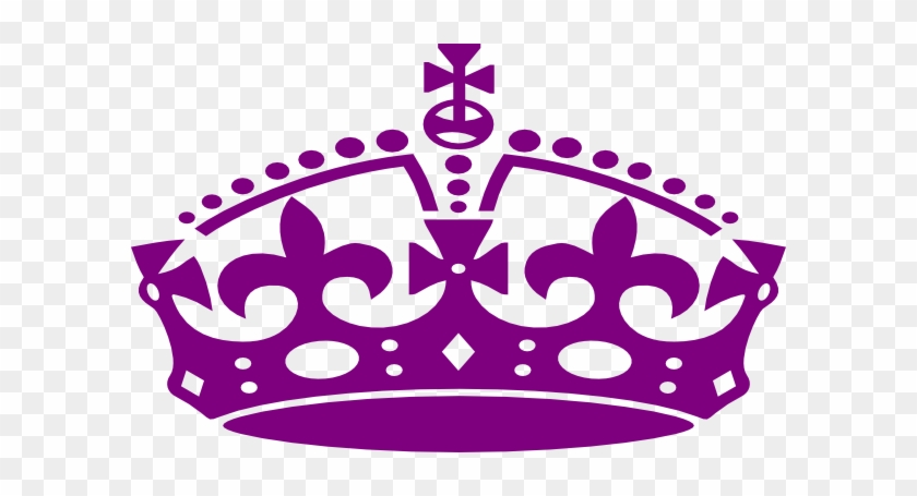 Crown Clipart Purple Crown - Keep Calm Crown Png #412917
