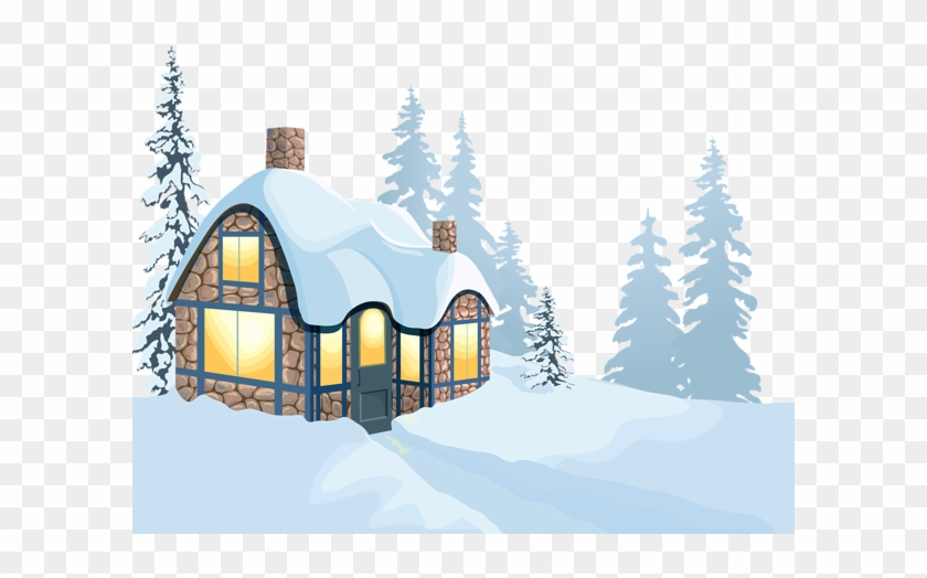 Snow Clipart Images - Winter House Clipart #413382