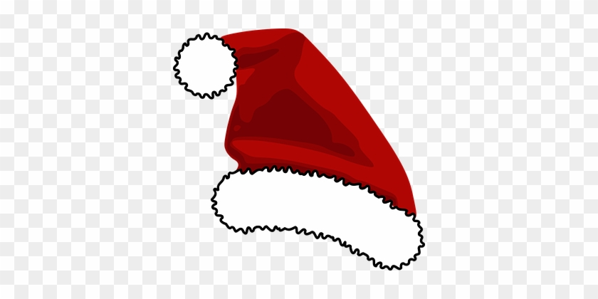 Hat, Red, Santa Claus, Head, Ball, Fur - Santa Hat Clip Art #413557
