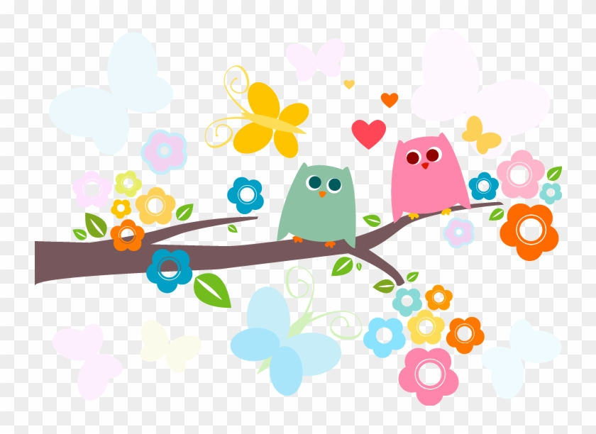 Owl Branch Stickers, Owl Tree Sticker, Owl Decal, Cute - Cute Owls #413872