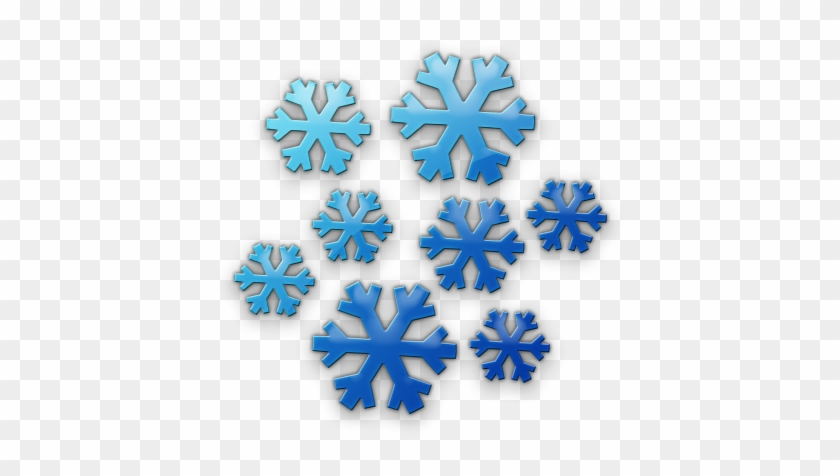 Snowflake Clipart Cluster - Cluster Of Snowflakes Clipart #413969