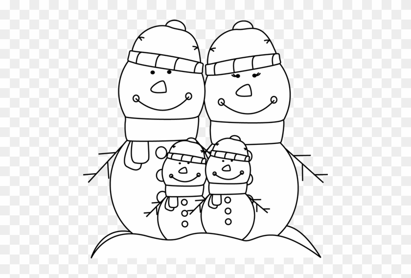 Black And White Snowman Family - My Cute Graphics Family Black And White #414146