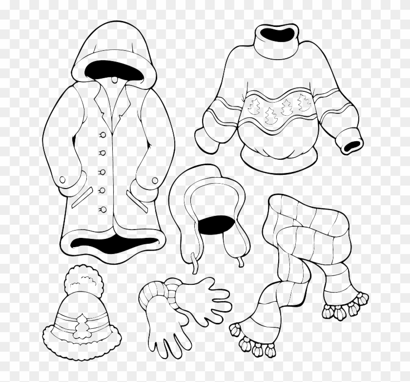 Winter Hat Coloring Page Clothing For All Seasons Free