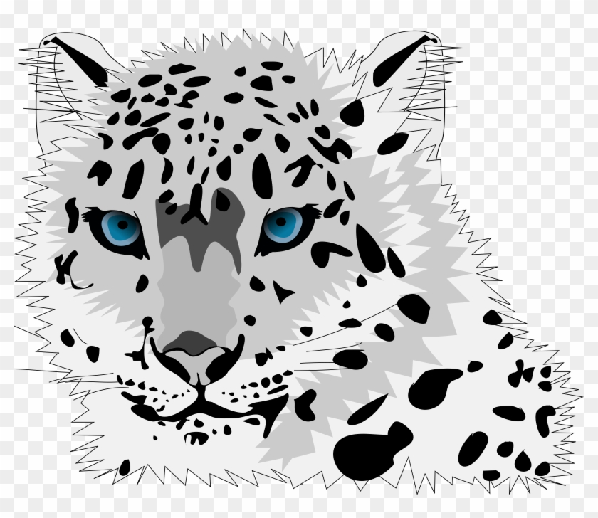 Cute Winter Animals With Snow Background Stock Vector - Snow Leopard Throw Blanket #414266