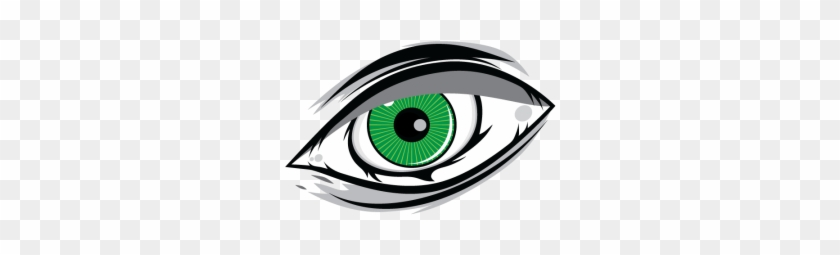 One Green Eye Cartoon, Green, Eye, Look Png And Vector - Ojos Verdes Animados #414302