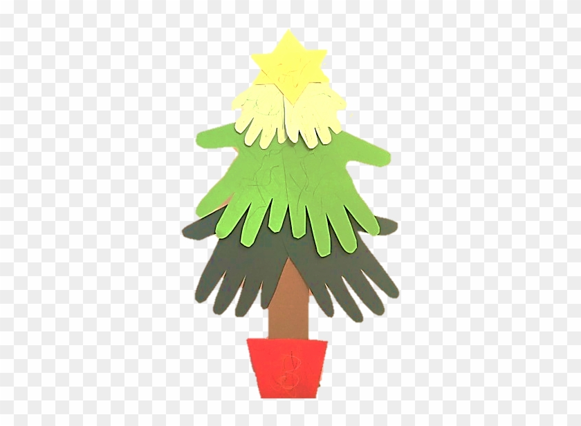 Hand Print Christmas Tree Craft Free Transparent Png
