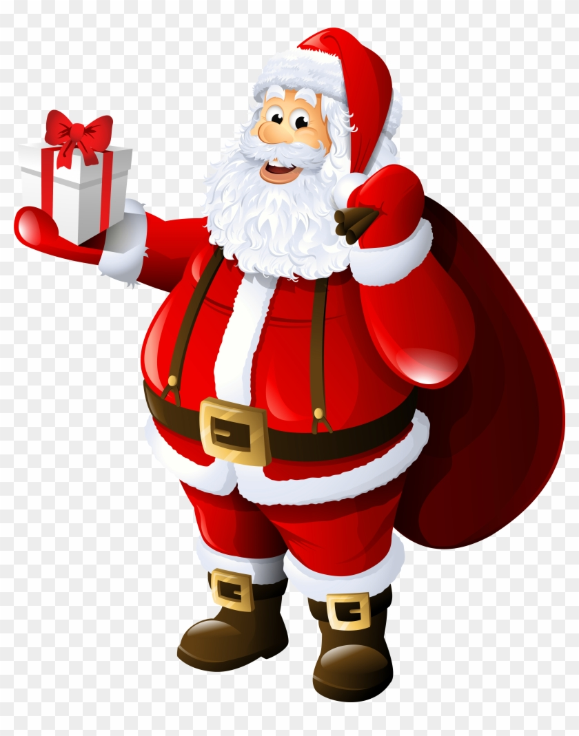 transparent santa claus with gift and bag santa claus candy cane clip art border candy cane clip art free