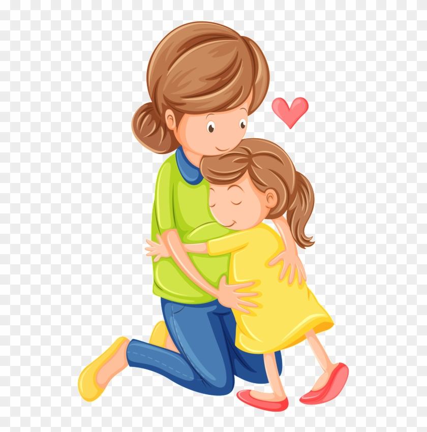 Mother Child Clip Art Mother And Daughter Cartoon Free Transparent Png Clipart Images Download