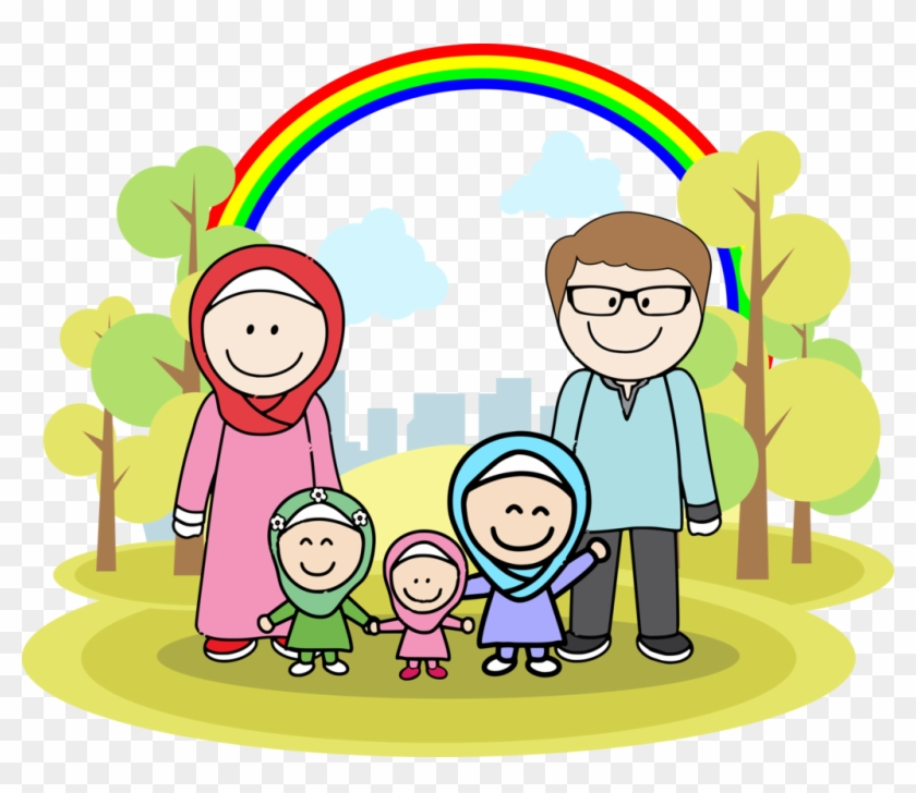 Family Muslim By Denutd Family Muslim By Denutd - Family Muslim Cartoon Png #416041