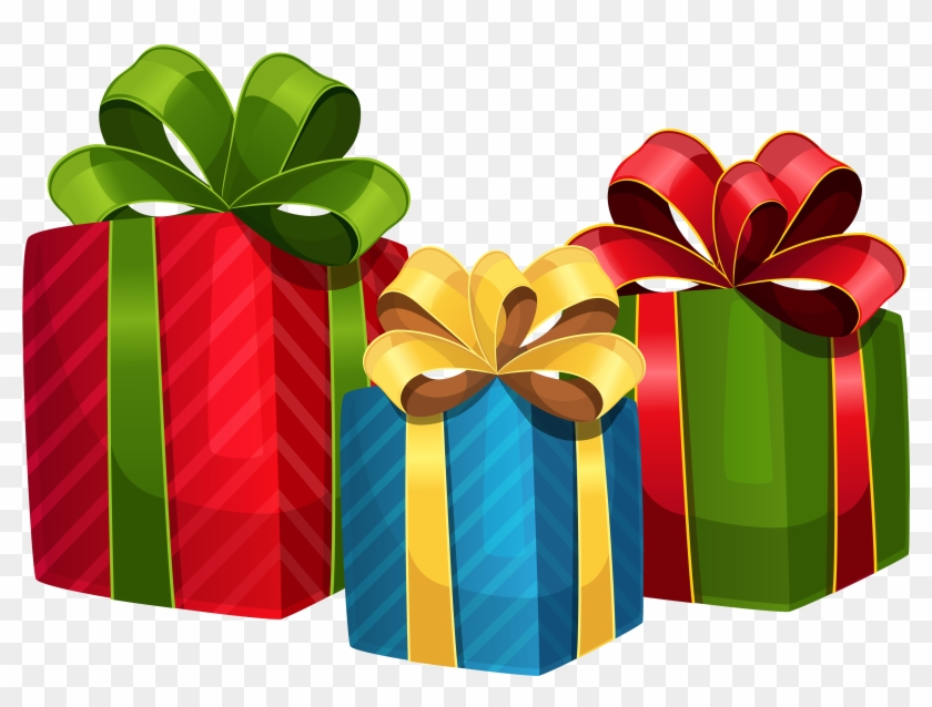 Christmas gifts vector png clip