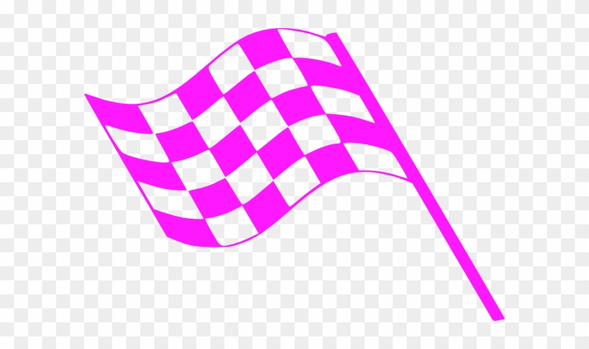 Pink Flags Clip Art At - Pink Race Car Clipart #416318