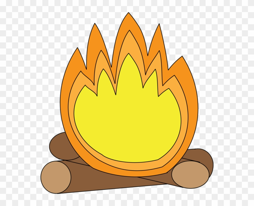 Camp Fire Clipart Small - Cartoon Camp Fire #416851