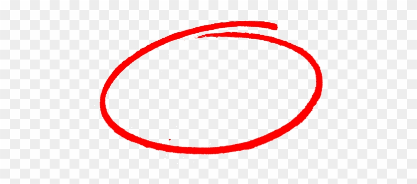 Drawn Number Circle Png - Red Marker Circle Png #416918