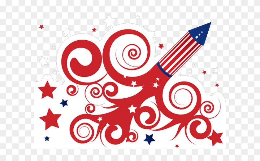 4th July Rocket - 4th Of July Fireworks Art #416939