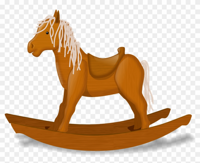 Wood Bridge Cliparts 26, - Rocking Horse Clip Art #417136