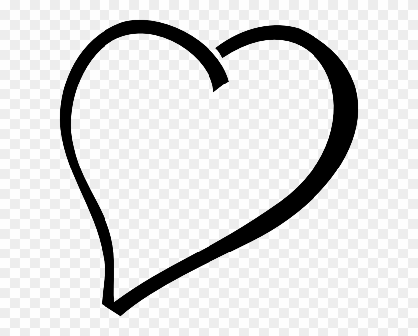 Fancy Heart Clip Art Black And White - Heart Vector Black Png #417230
