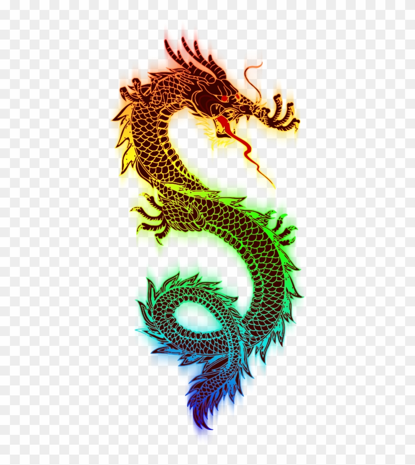 Dragon Clipart, Vector Clip Art Online, Royalty Free - Chinese Rainbow Dragon #417311