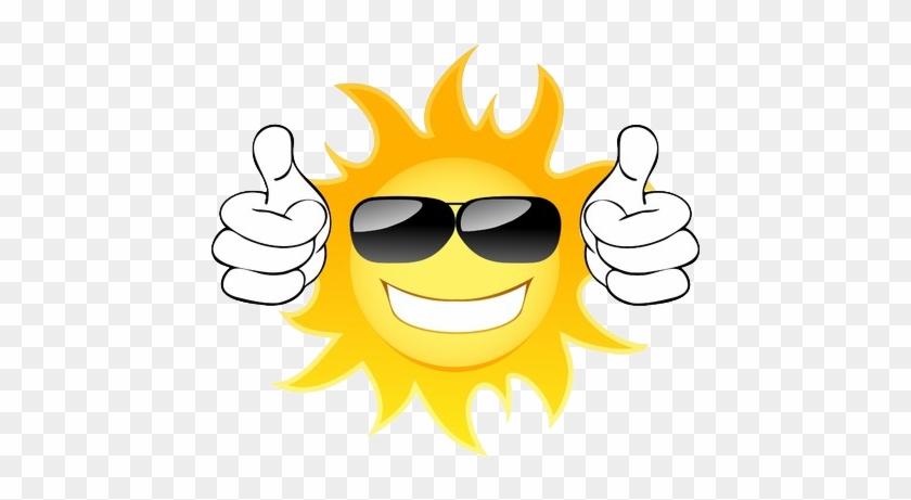 Sun With Sunglasses Clip Art #417749