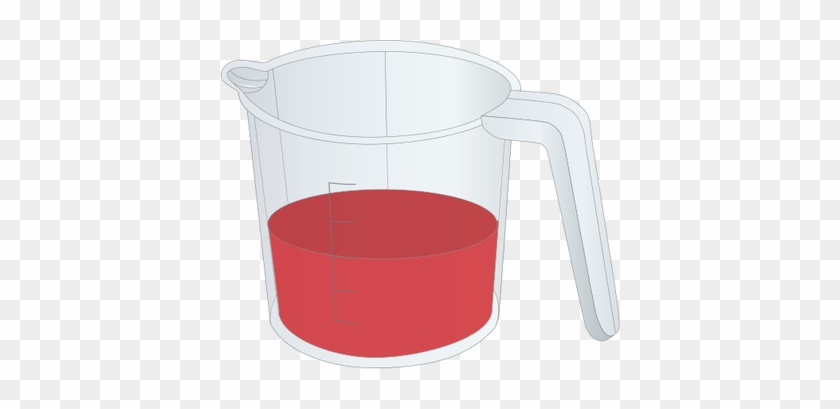 Cup Clipart Science - Measuring Cup Half Full #418080
