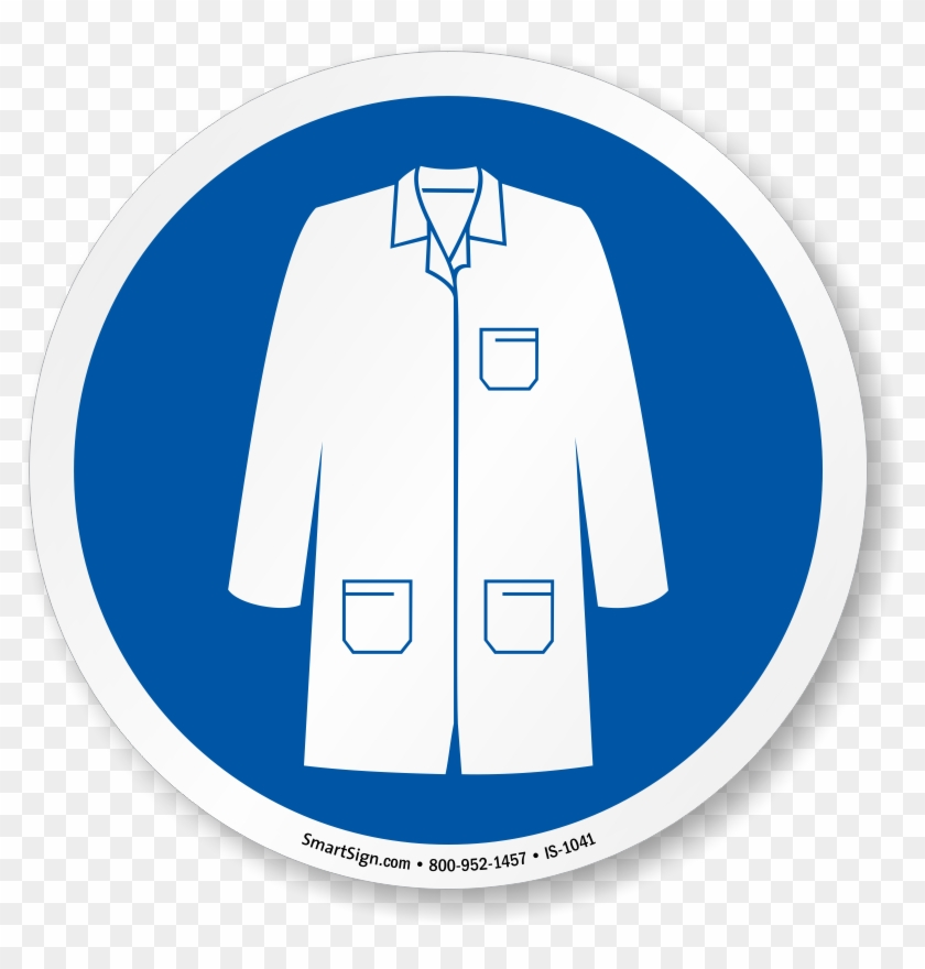 Wear Labcoat Symbol Sign Personal Protective Equipment Lab Coat