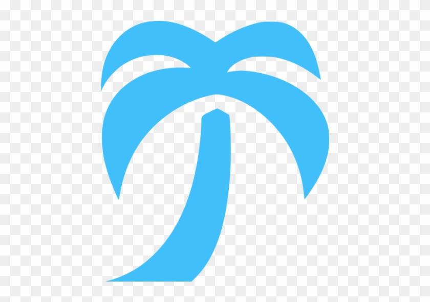 Palm Tree Icon Blue #418261