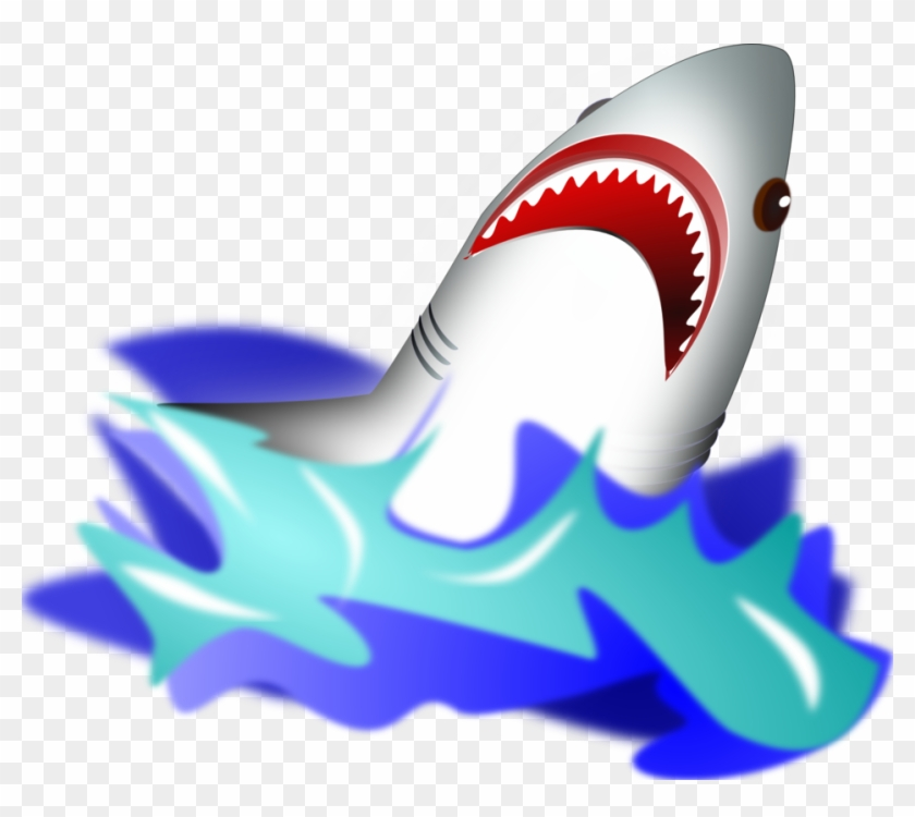 Clip Arts Related To - Shark Jumping Out Of Water Clipart #418546