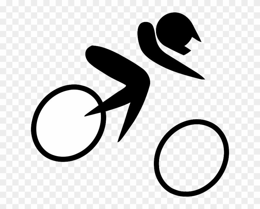 Sport Cartoon Symbols Bike Cycling Sports Bmx Olympic Symbol