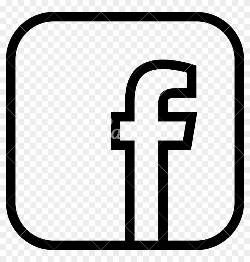 Black Facebook Social Media Icon - Facebook Logo Black And White Png #418647