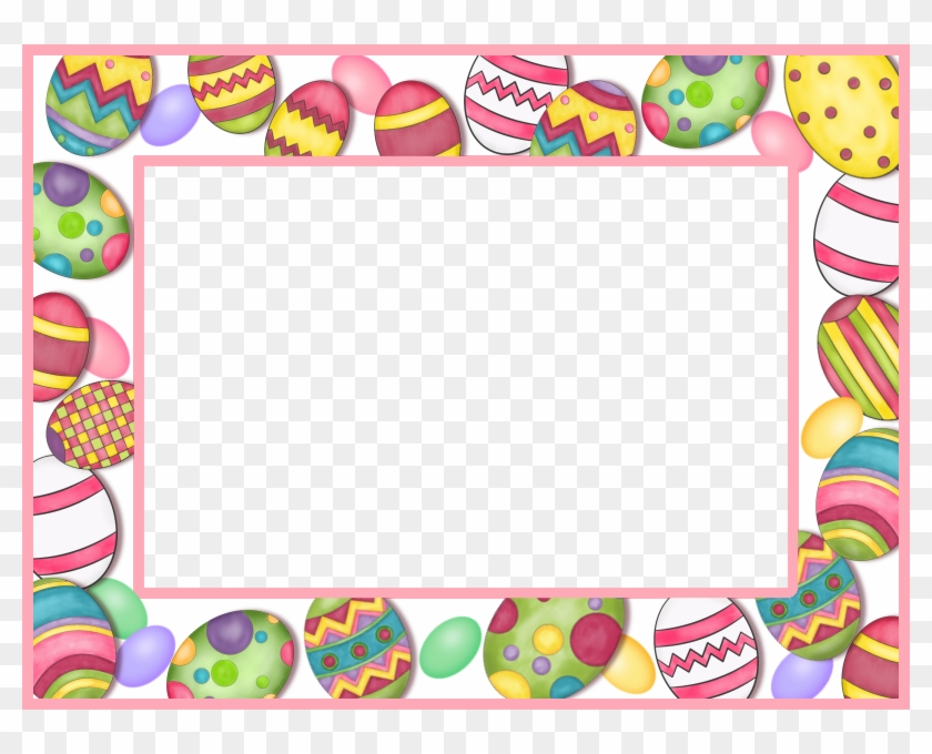 Egg Clipart Frame - Word Search Puzzles:easter And Springtime - Free ...
