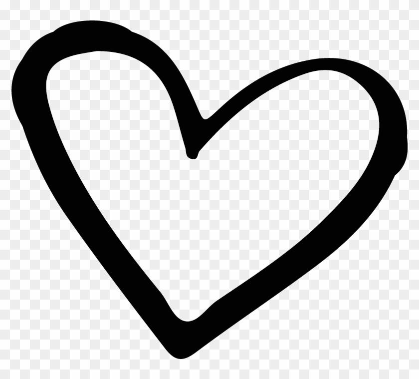 Brand Black And White Heart - Black Hand Drawn Heart #419082