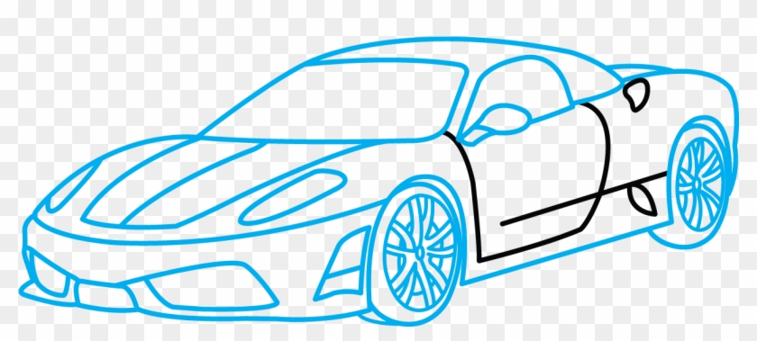 How To Draw Ferrari 360 A Sports Car Easy Step By How To Draw