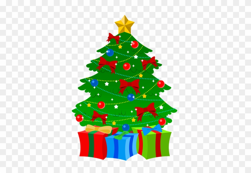 Last Day Before Christmas Break - Christmas Tree With Presents Clip Art #419521