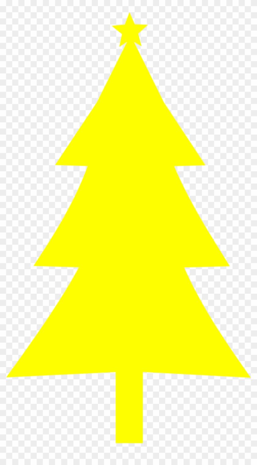 Big Image - Yellow Christmas Tree #419557