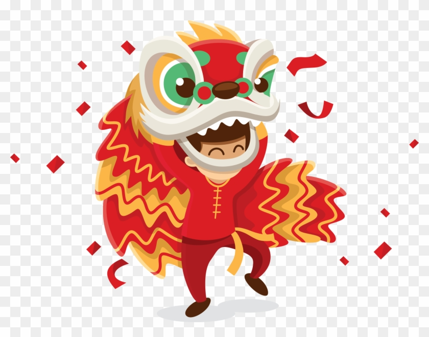 Chinese New Year Firecracker - Chinese New Year Png Dragon #419648