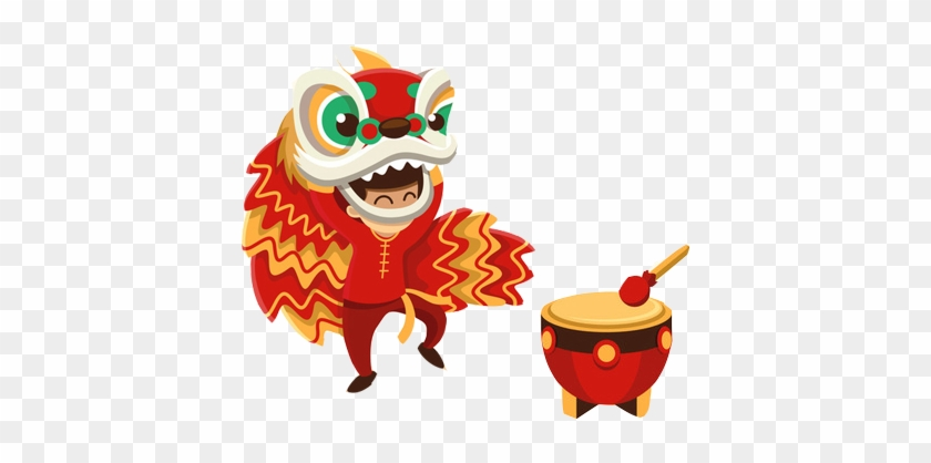Lion Dance Chinese New Year Dragon Dance - Lion Dance Vector Png #419650