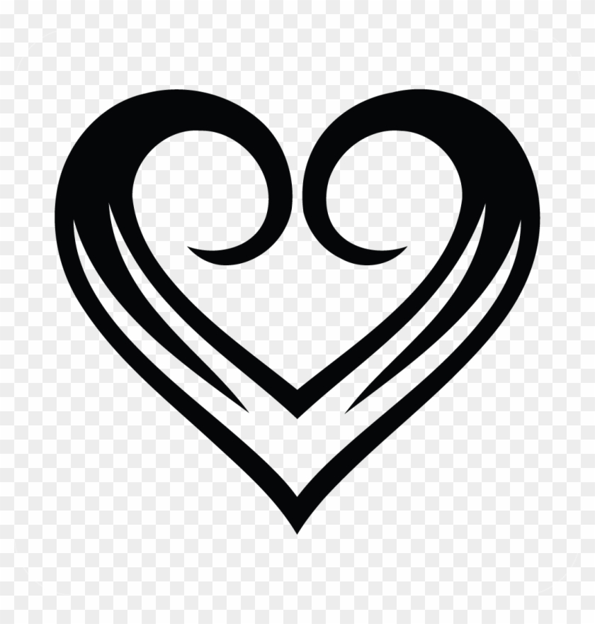 Free Light Purple Heart Clip Art - Love Tattoo Black And