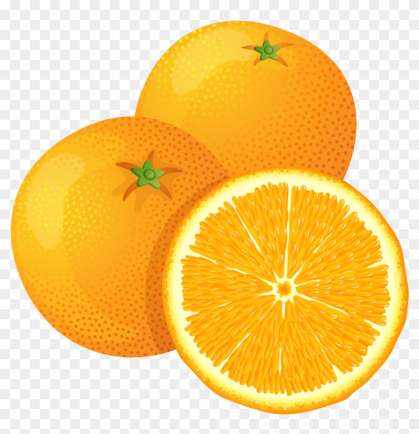 Best Orange Clipart - Orange Fruits And Vegetables Clipart #420095