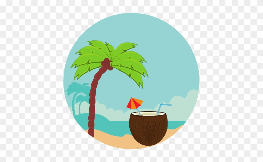 Coconut Cocktail Summer Icon - Icon - Free Transparent PNG