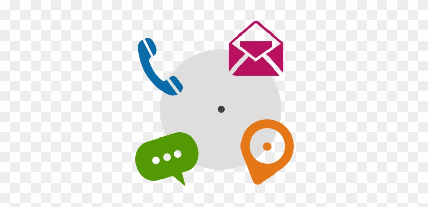 Need Assistance - Phone And Email Icons Vector #420235