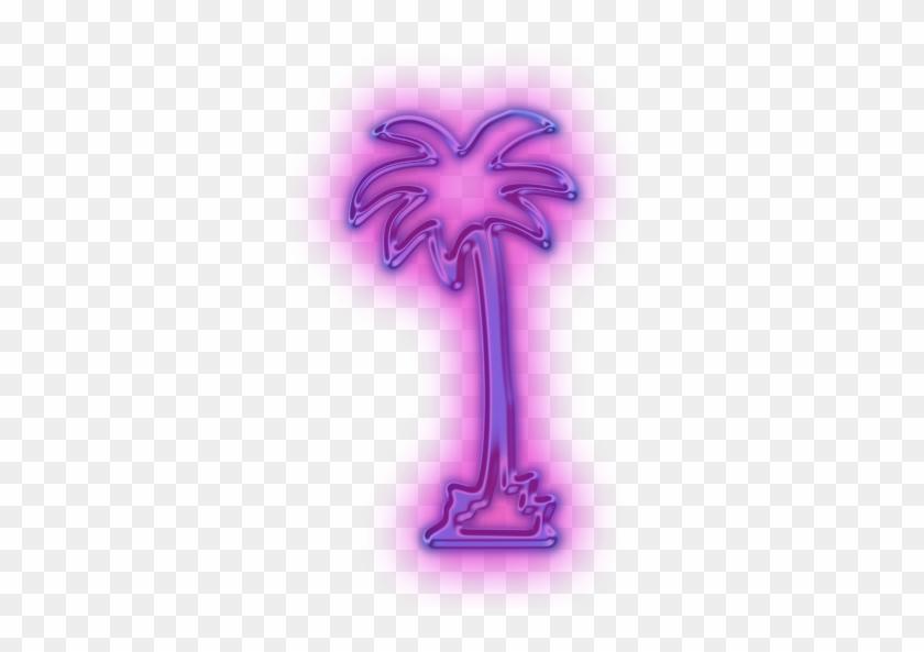 Get Vaporwave Palm Tree Transparent JPG
