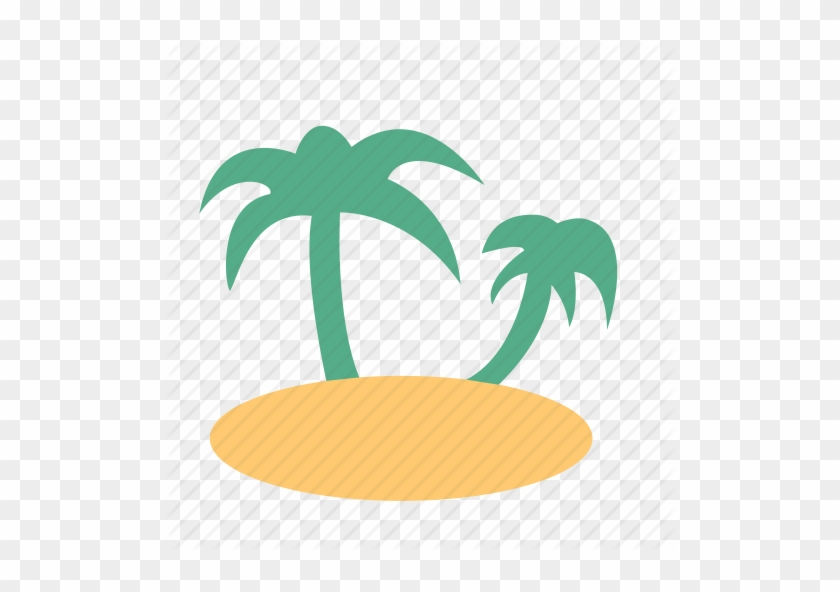 Coconut Palm, Island, Relax, Sand, Sea, Trip, Weather - Beach Icon Vector Png #420385