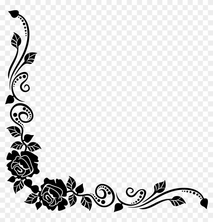 Black Rose Best Borders Flower Bouquet Clip Art Roses Border Black