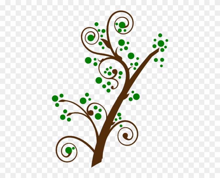 Blooming Tree Branch Svg Clip Arts 444 X 599 Px - Tree Branches With Leaves Clipart #420498