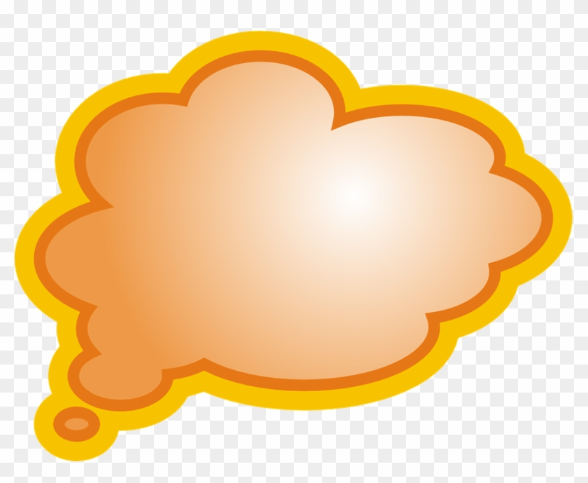 Thought Bubble Template - Message Cloud Png - Free Transparent PNG