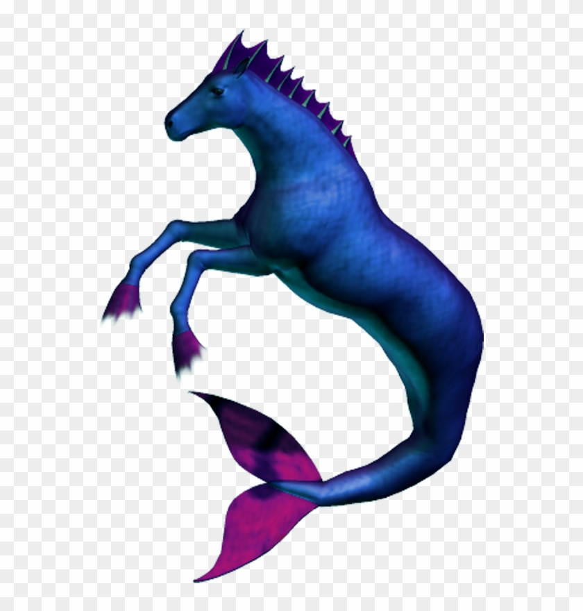 Hippocampus 1 Blue By Clipartcotttage - Hippocampus Clipart #420717