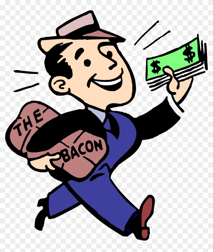 Cartoon Man With Suit And Cash - Bring Home The Bacon #68106