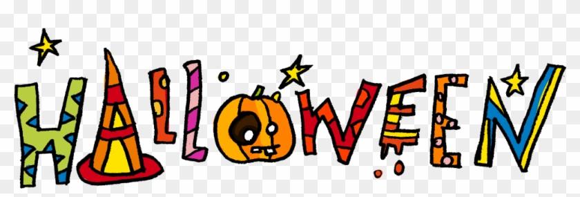 the word halloween clip art halloween word clip art