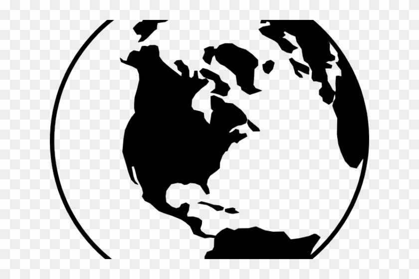World Globe Art - Globe Clip Art Black And White #68146