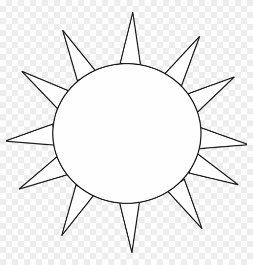 Sun Clip Art Black And White Black And White Black - Sun Icon Png White #68155