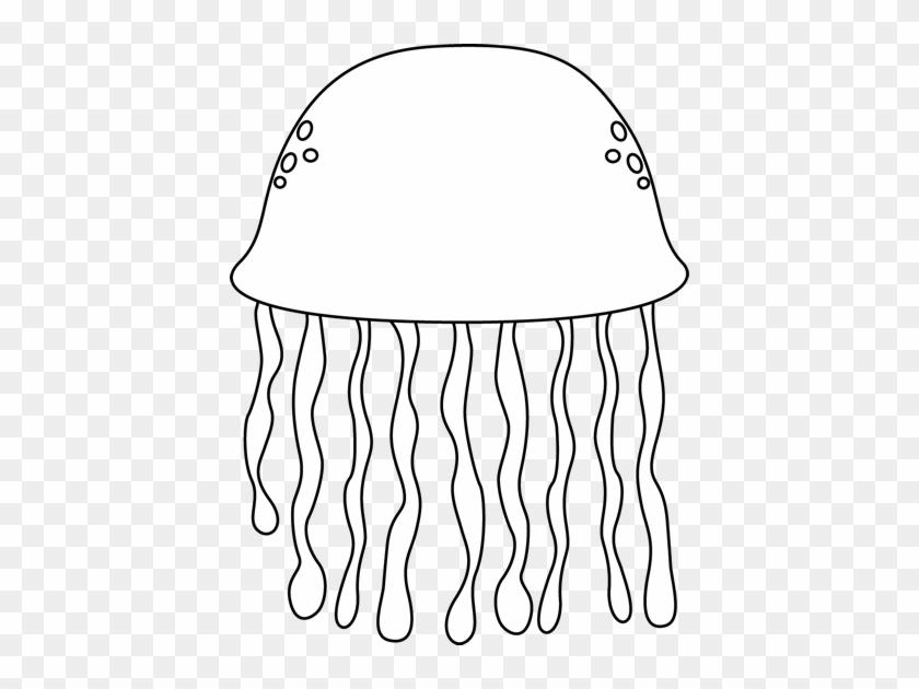 Black And White Black And White Jellyfish - Black And White Jelly Fish Clip Art #68214